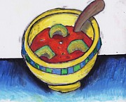Hearty Paintings - Janees Soup by Billy Knows