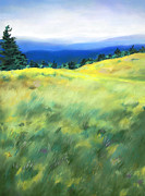 Asheville Pastels Prints - Janes Meadow Print by Elise Okrend
