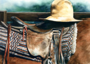 Cowboy Hat Paintings - Janessas Hat by Nadi Spencer