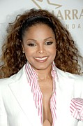 Pocket Square Prints - Janet Jackson At Arrivals For 19th Print by Everett