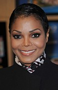 Silk Scarf Prints - Janet Jackson At In-store Appearance Print by Everett