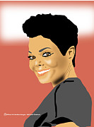 Janet Jackson Digital Art - Janet Jackson by Michael Chatman