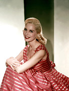 Striped Dress Art - Janet Leigh In The 1950s by Everett