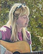 Singing Painting Originals - Janine singing by Todd Cooper
