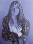 Singer Drawings - Janis by Adriana Guidi