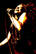 Album Framed Prints - Janis Joplin Framed Print by Dean Caminiti
