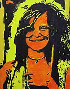 Rock And Roll Prints - Janis Joplin Print by Eric Dee