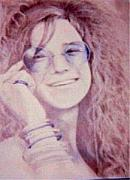 Janis Joplin Drawings - Janis Joplin by Janet Gioffre Harrington