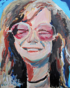 Jon Baldwin Art Framed Prints - Janis Joplin  Framed Print by Jon Baldwin  Art