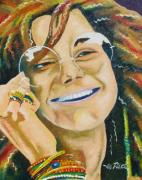 Rock Star Prints Framed Prints - Janis Joplin  Framed Print by Joseph Palotas
