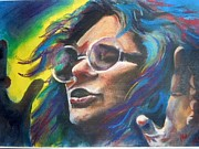 Music Portraits Pastels - Janis Joplin by Mark Anthony