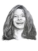 (murphy Elliott) Drawings - Janis Joplin by Murphy Elliott