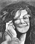 Janis Joplin Drawings - Janis Joplin by Russell Griffenberg