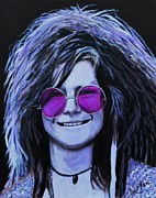  Hippie Painting Prints - Janis Joplin Print by Shirl Theis