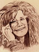 Janis Joplin Drawings - Janis Joplin by Toon De Zwart