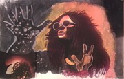Janis Joplin Drawings - Janis by Taylor Made Designs
