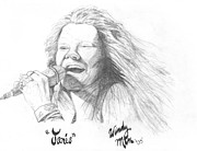 Star Drawings Posters - Janis Poster by Windy Mountain