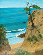 Kelp Paintings - January at Torrey Pines by L J Oakes