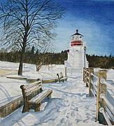 January Paintings - January Blues by Helen Shideler