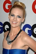 Updo Metal Prints - January Jones At Arrivals Metal Print by Everett