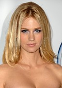 Center Part Prints - January Jones At Arrivals For 2009 Pga Print by Everett