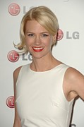Updo Metal Prints - January Jones At Arrivals For A Night Metal Print by Everett