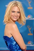 Lip Gloss Photo Posters - January Jones At Arrivals For Academy Poster by Everett