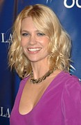 Lip Gloss Photo Posters - January Jones At Arrivals For Oceanas Poster by Everett