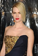 Beaded Dress Framed Prints - January Jones At Arrivals For Unknown Framed Print by Everett