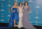 Atas Emmys Awards Prints - January Jones, Elisabeth Moss Print by Everett