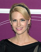 Hair Accessory Metal Prints - January Jones In Attendance Metal Print by Everett