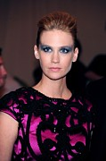 Metropolitan Museum Of Art Photos - January Jones Wearing Yves Saint by Everett
