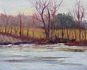 January Paintings - January Thaw by Judy Fischer Walton