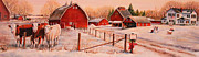 Barns Paintings - January Thaw by Toni Grote