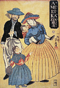 Portrait Woodblock Prints - Japan: Americans, 1861 Print by Granger