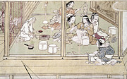 Japan House Framed Prints - Japan: Childbirth, 1329 Framed Print by Granger