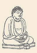 Buddha Drawing Prints - Japan: Grand Buddha Print by Granger