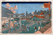 Torii Photos - Japan: Hachiman Shrine, 1853 by Granger