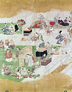 Outdoor Theater Framed Prints - JAPAN: KABUKI, c1680 Framed Print by Granger
