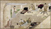 Seafood Worker Framed Prints - JAPAN: KITCHEN, c1375 Framed Print by Granger