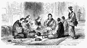 Servant Prints - Japan: Meal, 1864 Print by Granger