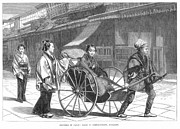 1874 Photo Prints - Japan: Rickshaw, 1874 Print by Granger