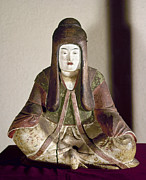 Statue Portrait Prints - JAPAN: STATUE, 9th CENTURY Print by Granger