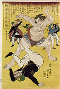 Sumo Framed Prints - Japan: Sumo Wrestling Framed Print by Granger
