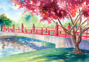 Japanese Bridge Print by Denise Schiber