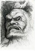 Fantasy Drawings Originals - Japanese Demon by Tim Thorpe