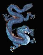 Illustration Reliefs - Japanese Dragon by Michael McGrath