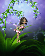 Fairy Art For Sale Framed Prints - Japanese Fairy Framed Print by John Junek