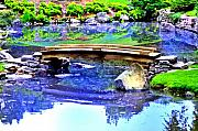 Philadelphia Digital Art Metal Prints - Japanese Garden Metal Print by Bill Cannon