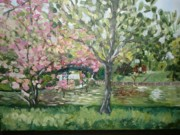 Sakura Painting Originals - Japanese Garden by Irina Martynova